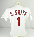 Ozzie Smith 1994 St Louis Cardinals Game Used & Autographed Jersey w/Dave Miedema LOA