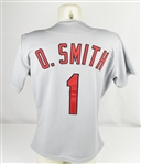 Ozzie Smith 1993 St Louis Cardinals Game Used & Autographed Jersey w/Dave Miedema LOA