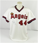 Reggie Jackson 1984 California Angels Game Used & Autographed Jersey w/Dave Miedema LOA