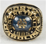Ranzino Smith 1984-85 UNC Tar Heels Elite Eight ACC Championship 10k Gold Ring