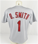 Ozzie Smith 1992 St. Louis Cardinals Game Used & Autographed Jersey w/Dave Miedema LOA