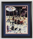 Miracle On Ice 16x20 USA 1980 Olympic Team Signed Photo w/21 Signatures Including Herb Brooks