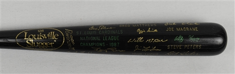 St. Louis Cardinals 1987 World Series Championship Black Trophy Bat