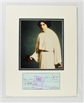 Carrie Fisher 1978 Signed Check Display