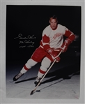 Gordie Howe Autographed & Inscribed 16x20 Photo