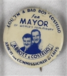Lou Costello 1939 Worlds Fair Pinback Button