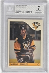 1985 O-Pee-Chee Hockey Card Set w/Mario  Lemieux Rookie BGS 7 NM