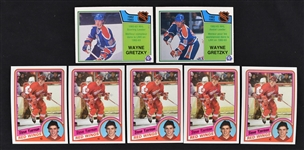 Collection of 7 Hockey Cards w/5 Steve Yzerman Topps Rookies