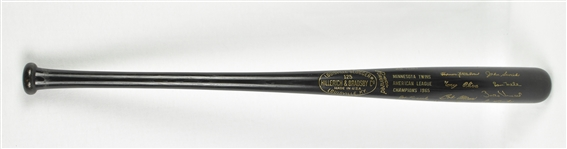 Minnesota Twins 1965 American League Championship Trophy Bat
