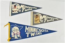 Minnesota Twins Lot of 3 Vintage Pennants