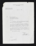 Biggie Munn 1953 Michigan State Signed Letter to Sid Hartman