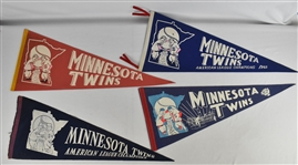 Vintage Lot of 4 Minnesota Twins Pennants