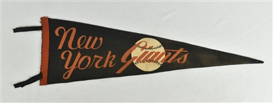 Vintage New York Giants Pennant