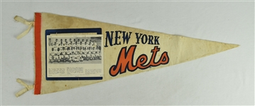 Vintage New York Mets Photo Pennant