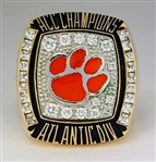 2009 Clemson Tigers ACC Championship / Music City Bowl Champions Player's Ring