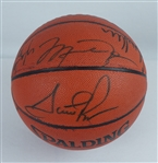 Chicago Bulls 1997-98 NBA Championship Team Signed Basketball w/Charitabulls LOA