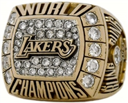 Los Angeles Lakers 2000 NBA World Championship 14K Gold Diamond Ring *Kobe Bryants 1st NBA Title*