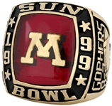 Eric Lee 1999 Minnesota Golden Gophers Sun Bowl 10K Gold Ring